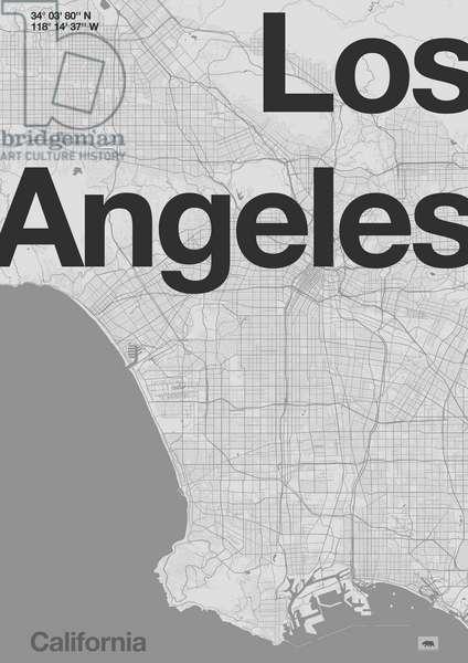 Los Angeles Minimal Map