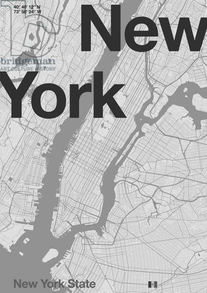 New York Minimal Map