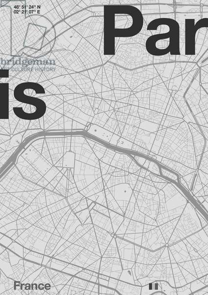 Paris Minimal Map