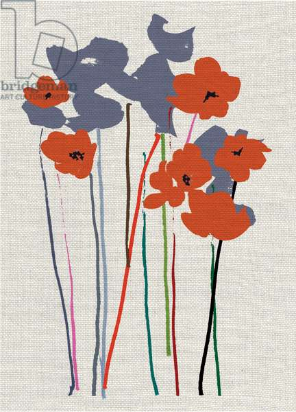 Printed Poppies