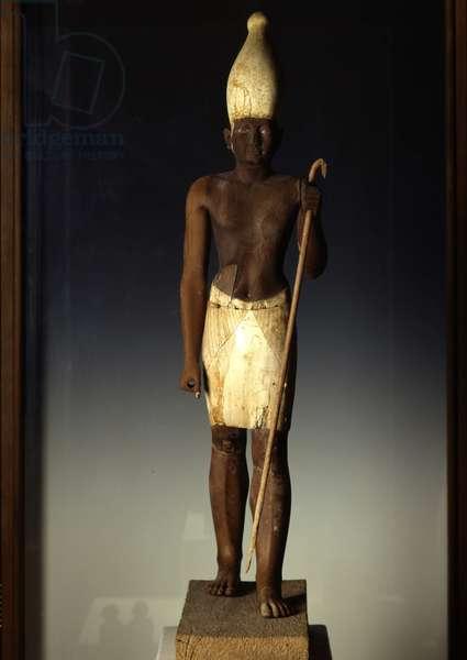 Sesostris I (Wooden Statuette), Licht - Museum of Egypt, Cairo