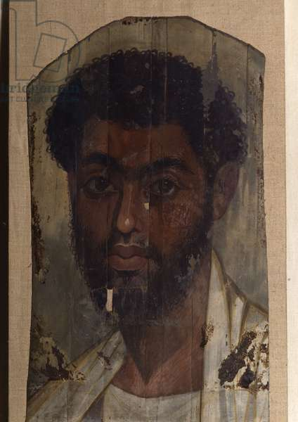 Portrait of Fayoum (Fayum) - man, Coptic art, 2nd century - Museum of Egypt, Cairo