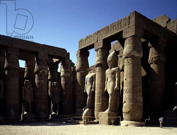 Temple Court of Ramses II - Louksor or Luxor