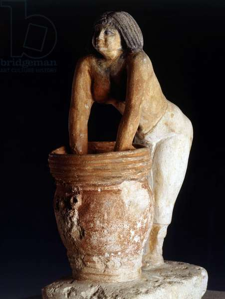 Cairo, Museum of Egypt: Statuette of a brewer, Giza
