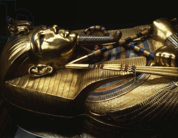 Golden Sarcophagus of Tutankhamun, Thebes - Museum of Egypt, Cairo