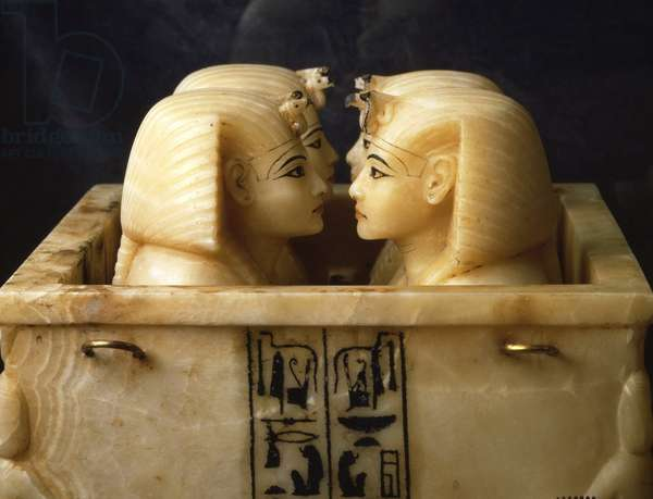 Canopic Vase of Tutankhamun (detail), Thebes - Museum of Egypt, Cairo