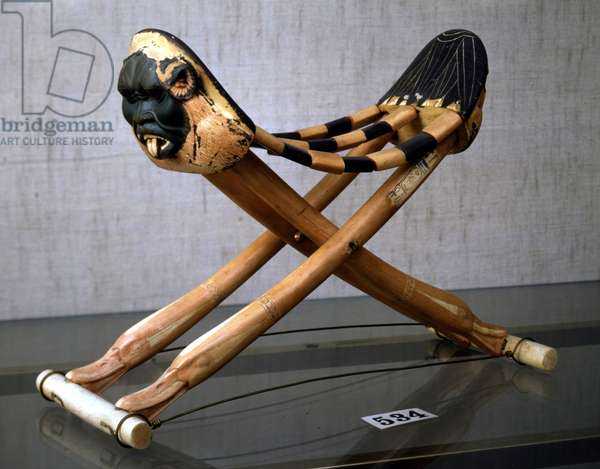 Head rest of Tutankhamun with the god Bes - Museum of Egypt, Cairo