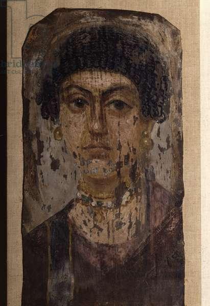 Portrait of Fayoum (Fayum) - woman, Coptic art, 2nd century. Museum of Egypt, Cairo