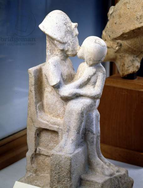 Akhenaton (Akhnaton) kisses his daughter, Tell el-Amarna - Museum of Egypt, Cairo