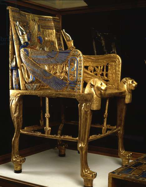 Throne of Tutankhamun in Gold, Thebes - Museum of Egypt, Cairo