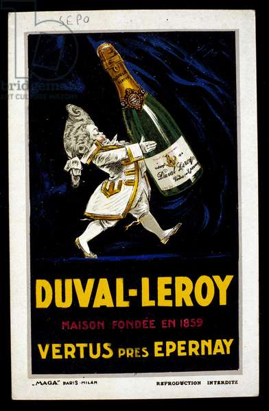Advertising for the champagne Duval Leroy. Illustration by Sepo (Severo Pozzati) (1895-1983) 1923 DR
