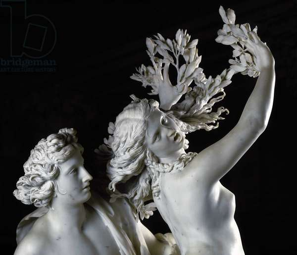 Apollo and Daphne (detail). Baroque sculpture by Gian Lorenzo Bernini known as Le Bernin (1598-1680), 1622. Galleria Borghese, Rome.