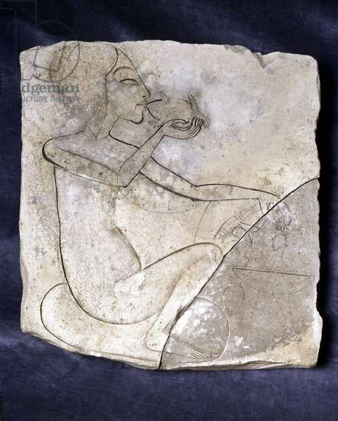 Princess who eats a duck, Tell el-Amarna - Museum of Egypt, Cairo