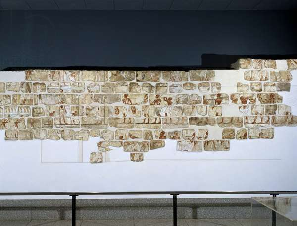 Talatates: Wall from the temple of Amenhotep IV (Amenophis IV in ancient Greek, Akhenaton or, more rarely, Khounaton and Akhnaton) 9th pharaoh of the 18th dynasty of the New Empire. Museum of Egyptian Art in Luxor.