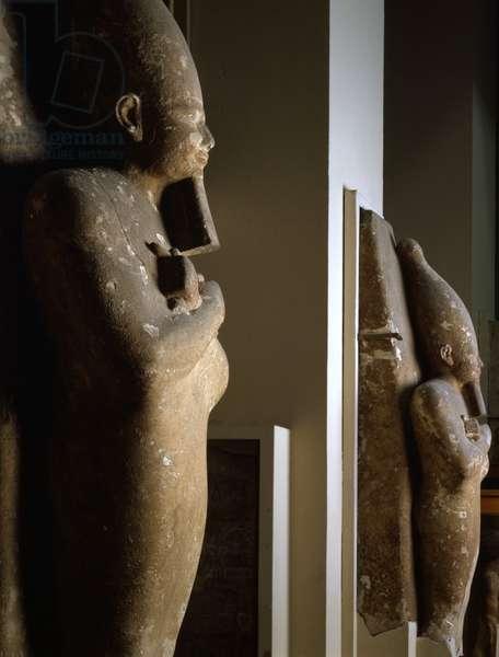 Osiridian Pillars of the Temple of Sesostris I, Licht - Museum of Egypt, Cairo