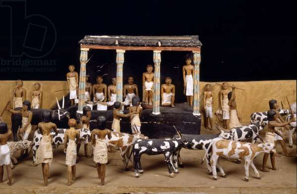Cattle count, Tomb of Meketre, Thebes - Museum of Egypt, Cairo
