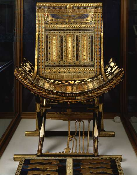 Throne for ceremonies of Tutankhamun, Thebes - Museum of Egypt, Cairo