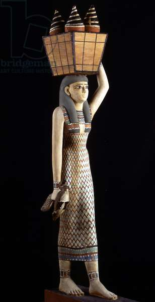 Carrier of offerings, Thebes - Museum of Egypt, Cairo