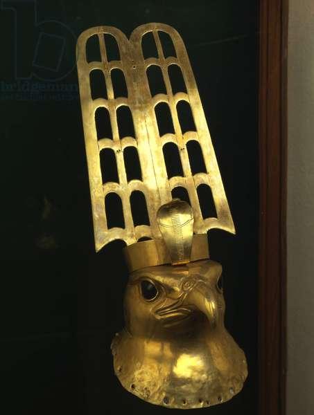 Golden Falcon Head, Hierakonpolis - Museum of Egypt, Cairo