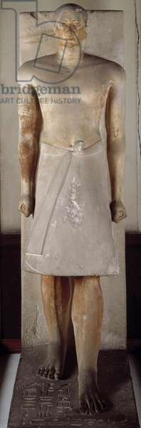 Antiquite Egyptian: limestone statue depicting the high priest of Ptah and head of the city of Memphis Ranefer. 5th Ancient Empire dynasty. Cairo, Museum of Egypt