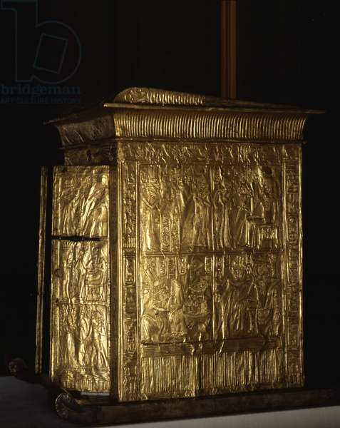 Golden Tabernacle of Tutankhamun, Thebes - Museum of Egypt, Cairo