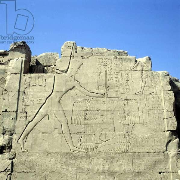 Pylon Tuthmosis III submisses Asians - Karnak, Temple of Amon VII