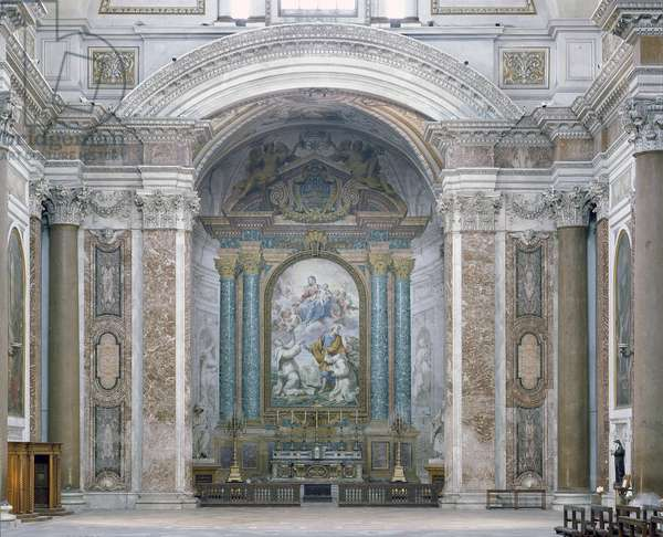 Interior of the Church of Santa Maria degli Angeli. Architecture by Michelangelo Buonarroti called Michelangelo (Michelangelo or Michelangelo, 1475-1564) and Luigi Vanvitelli (1700-1773), 1561-1564, Rome
