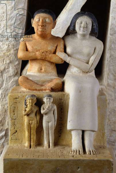 The Dwarf Seneb and his family, Giza - Museum of Egypt, Cairo