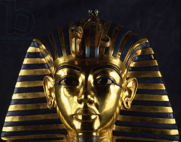 Funeral mask of Tutankhamun (detail), Thebes - Museum of Egypt, Cairo