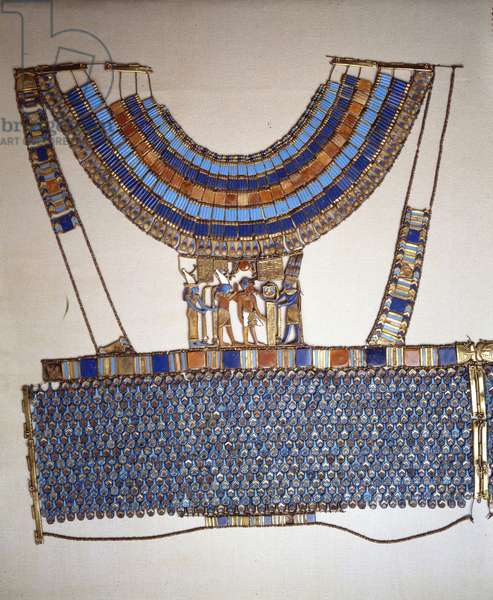 Corselet of Tutankhamun (front), Thebes - Museum of Egypt, Cairo