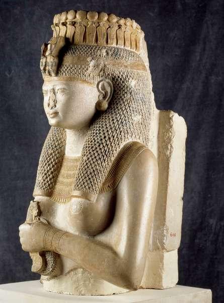 Ancient Egypt: Sculpture of Queen Merit-Amon (Merit Amon), Thebes. Cairo, Museum of Egypt.