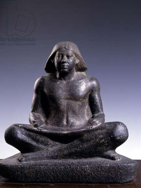 Scribe, granite, Saqqara (Sakkara) - Museum of Egypt, Cairo