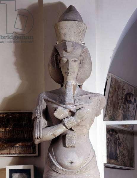 Cairo Museum of Egypt Colossal Statue of Akhenaton (Akhnaton), Karnak