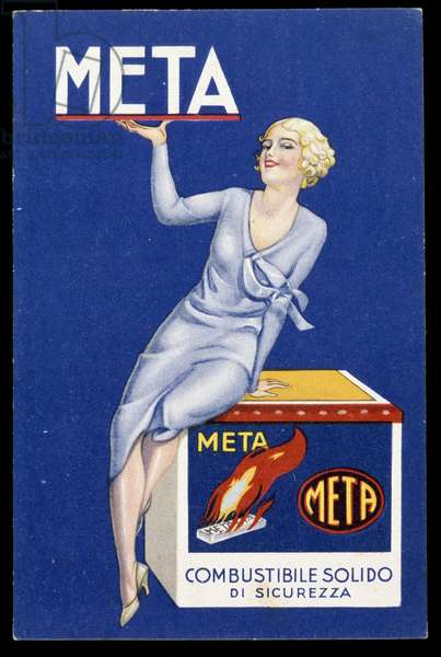 Advertising for solid fuel Meta. 20th century DR