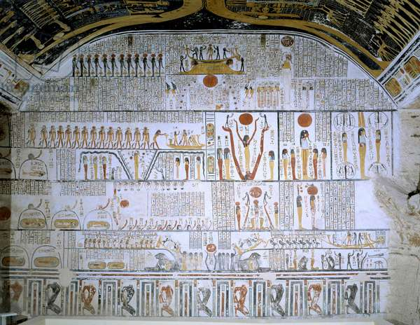 Thebes - Valley of the Kings Tomb of Ramses VI (n ¡9) Tomb Hall - Chapters of the Book of the Dead