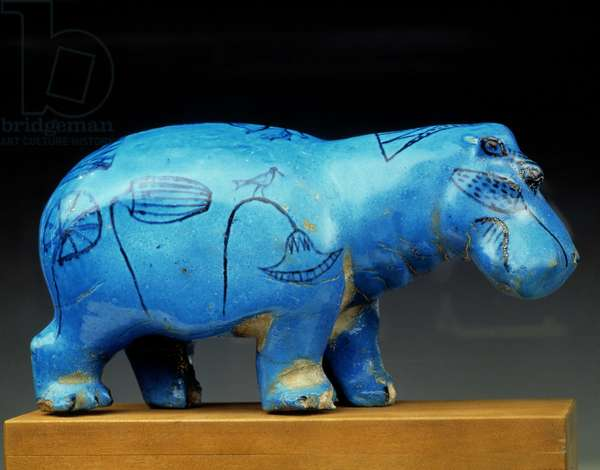 Egyptian Museum in Cairo: Hippo in faience.