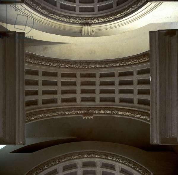 Baroque art: Ceiling. Galleria Prospettica, Palazzo Spada (Prospettica Gallery), Rome. Architecture by Francesco Borromini (1599-1667), 1632-1635