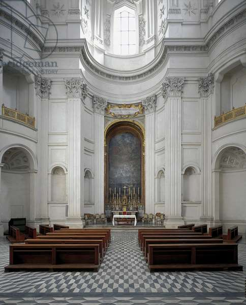 Baroque art: Interior of the Church of Sant' Ivo alla Sapienza, Rome. Architecture by Francesco Borromini (1599-1667), 1642-1660
