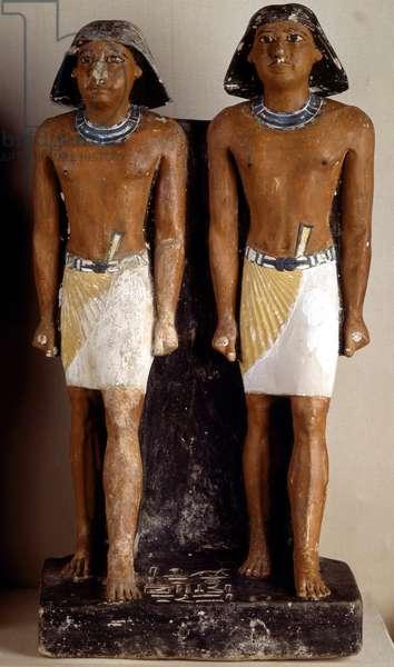 Double Statue of Nimaatsed, Saqqara (Sakkara) - Museum of Egypt, Cairo