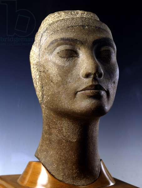 Unfinished Portrait of Nefertiti, Tell el-Amarna - Museum of Egypt, Cairo