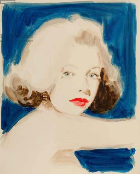 Marilyn Monroe in Blue