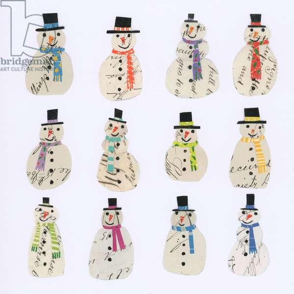 Twelve Document snowmen