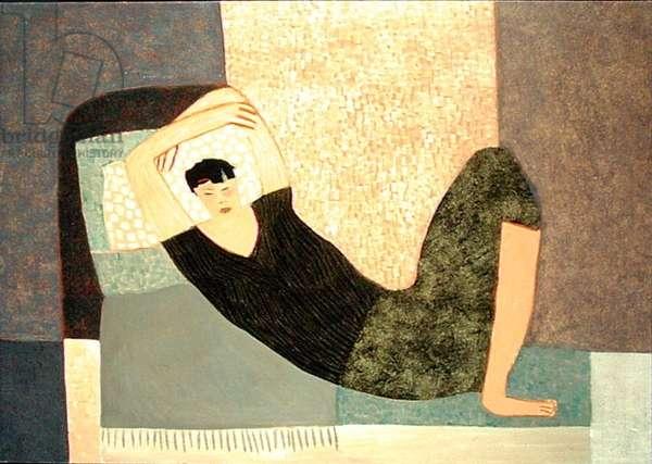 Sleeping Girl, 2001 (oil on paper)