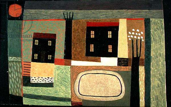 Black Houses, 2000 (oil on paper)