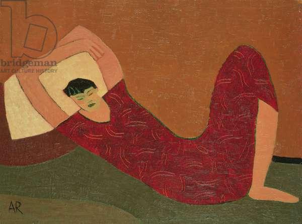 Sleeping Girl I, 1999 (oil on hardboard)