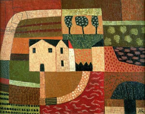 Patterned Landscape, 1999 (oil on canvas)
