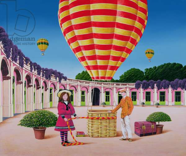 The Balloonist, 1986 (acrylic on board)