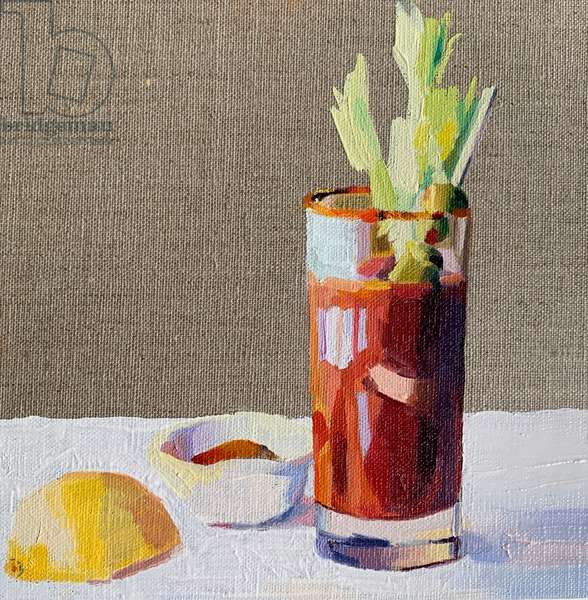Bloody Mary, 2020, (oil on board)