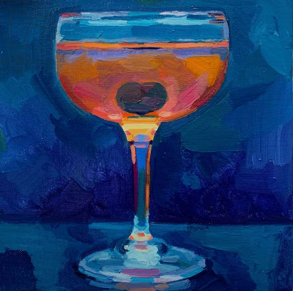 cocktail 6, 2019 (oil on board)