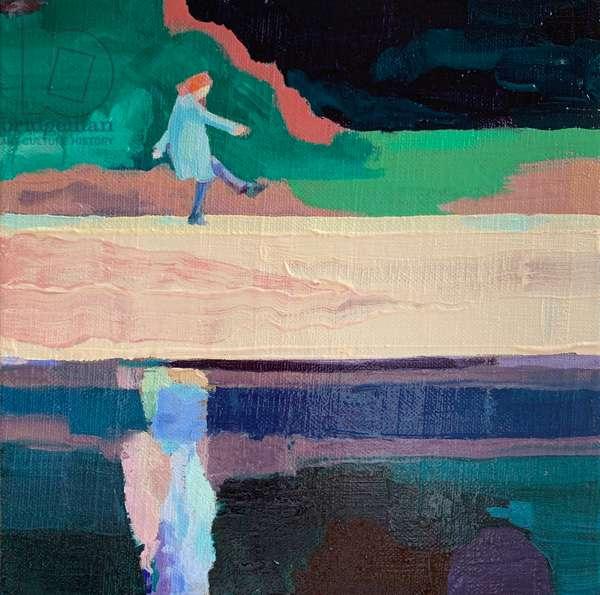 Crossing, 2020, (oil on linen canvas board)